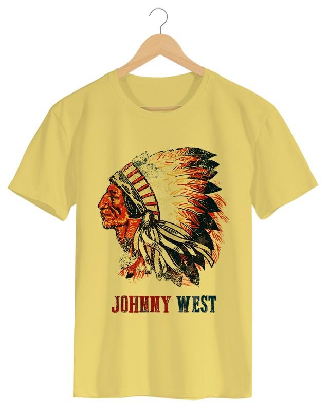 Native American - Camiseta Masculina Cor em Malha Algodão