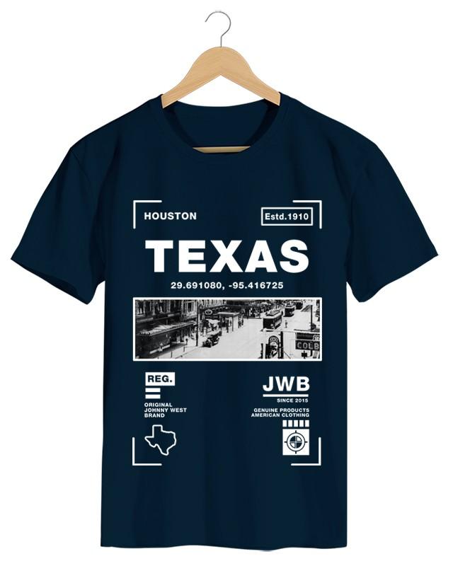 Texas - Camiseta Masculina Cor em Malha Algodão