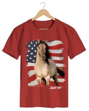 Horse - Camiseta Masculina Cor em Malha Algodão