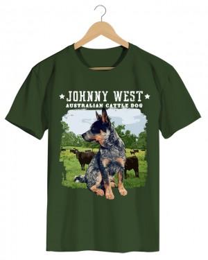 Australian Cattle Dog - Camiseta Masculina Cor em Malha Algodão