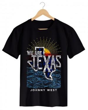 We Are Texas - Camiseta Masculina Preta em Malha Algodão