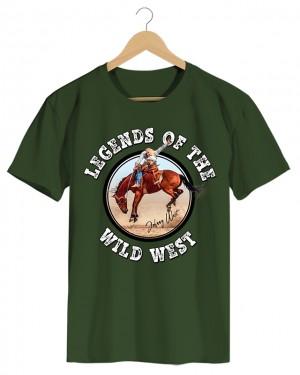 Wild West - Camiseta Masculina Cor em Malha Algodão