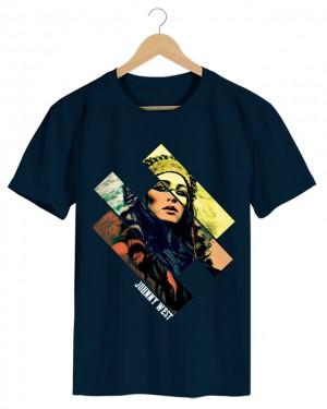 Native Girl - Camiseta Masculina Cor em Malha Algodão