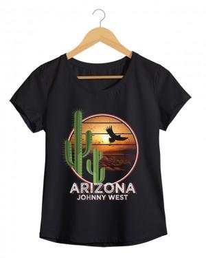 Arizona - Camiseta Feminina Cor em Malha Algodão