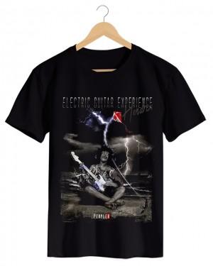 Perplex | Eletric Guitar, Camiseta Masculina Preta em Malha Algodão