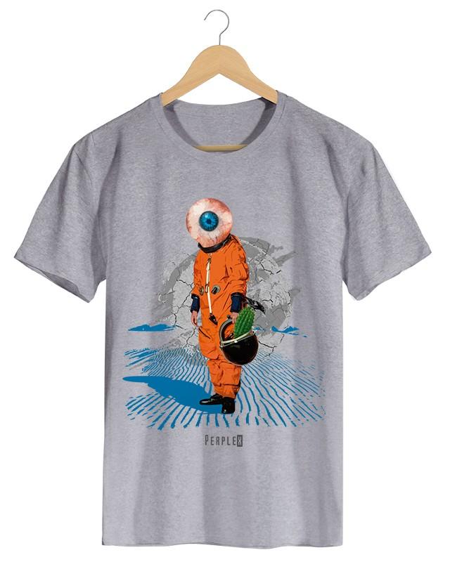 Perplex | Lost in Space, Camiseta Masculina Preta em Malha Algodão