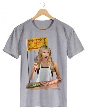 PPX008 COOKING CLASS - Camiseta Masculina Preta em Malha Algodão