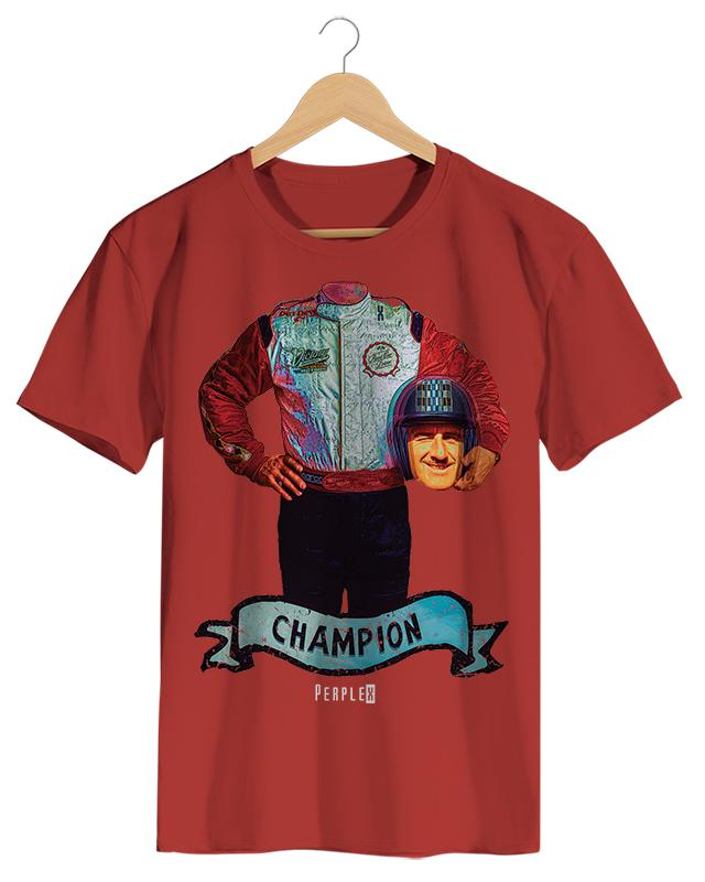 PPX012 Champion - Camiseta Masculino Branco em Malha Algodão