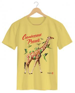 PPX013 Carnivorous Parrots - Camiseta Masculino Branco em Malha Algodão