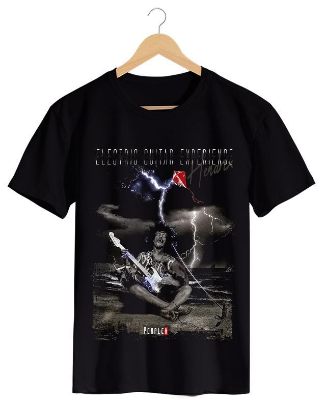 PPX014 - Camiseta Masculina Preta em Malha Algodão
